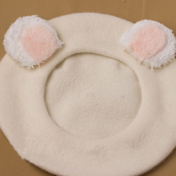 Harajuku Bear Ear Beret (4 Colors)