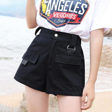 PLUS SIZE KOREAN BLACKPINK JENNIE STREET STYLE SHORTS (4 COLORS)