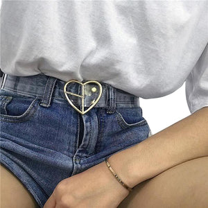 HARAJUKU TRANSPARENT CLEAR HEART BELT