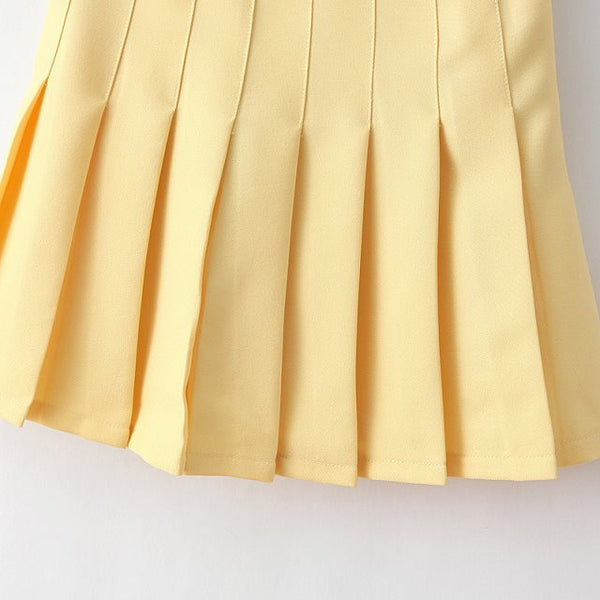 Pastel Yellow Tennis Skirt