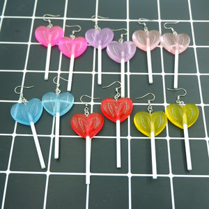 HARAJUKU CLEAR LOLLIPOP EARRINGS
