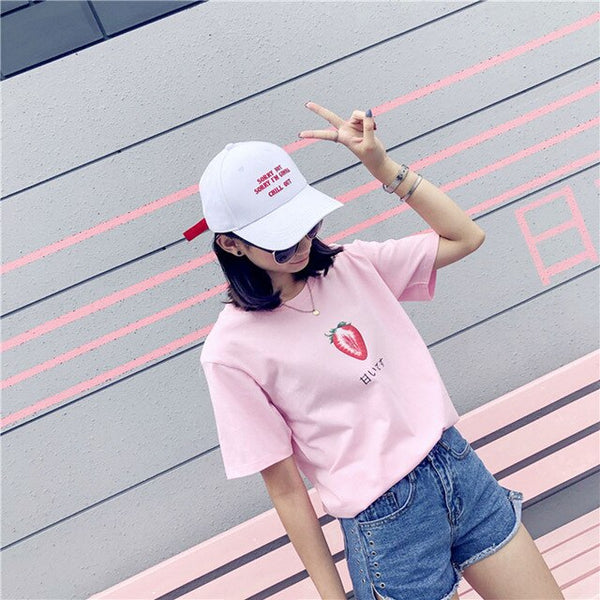 Harajuku Ulzzang Sweet Strawberry Tshirt