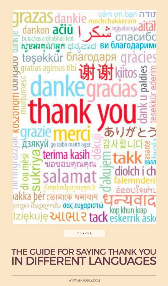 The Guide For Saying Thank You In Different Languages
