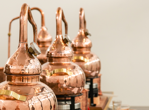 Gin school mini pot stills