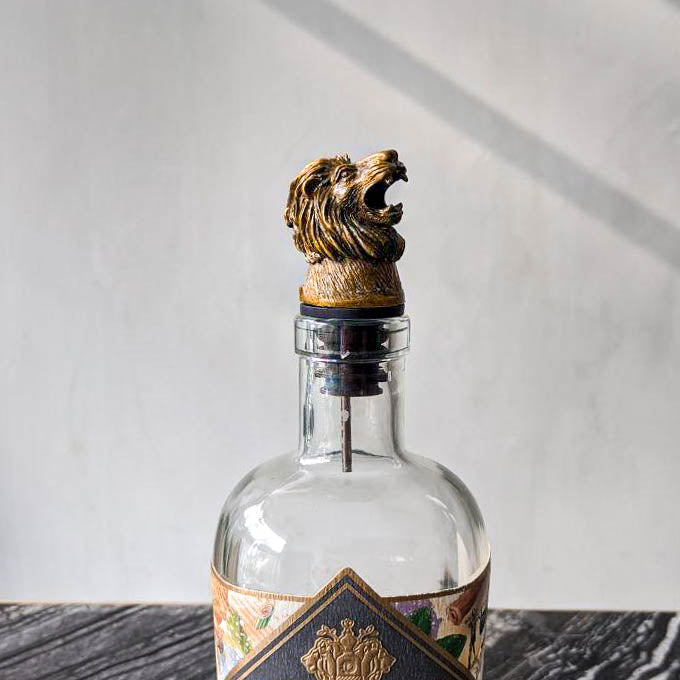 Brass Lion Head Pourer