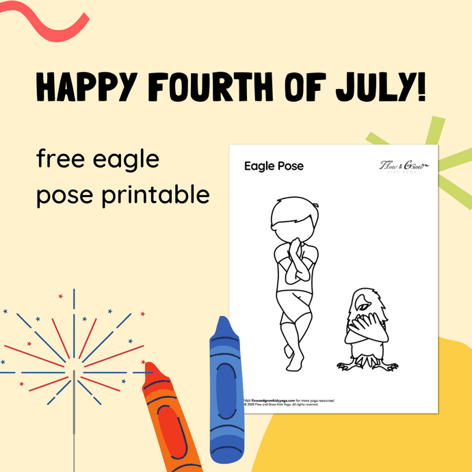 Freebie Eagle Pose Coloring Page!