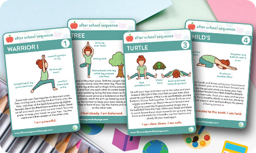 picture about Printable Yoga Cards called No cost Yoga Playing cards: When Faculty Collection for Little ones Totally free