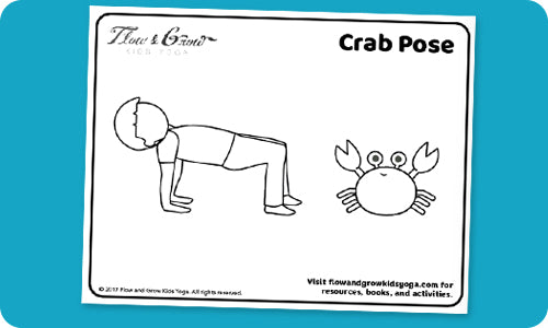Crab Pose free coloring pages for kids