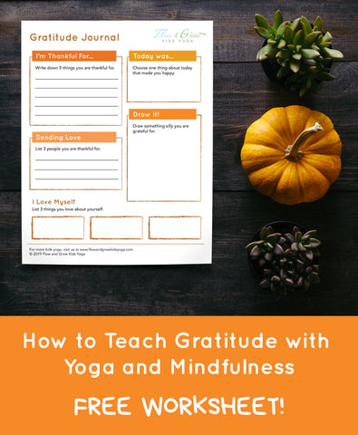 Free Gratitude Worksheet for kids