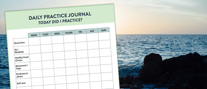 Daily Practice Journal for Yoga - download this freebie!