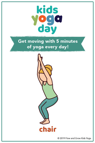 kids yoga day sequence free poster  free yoga tools and
