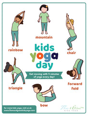 Kids Yoga Day Free Yoga Sequence Poster