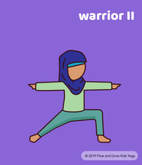 Yoga Poses for Kids: Warrior II