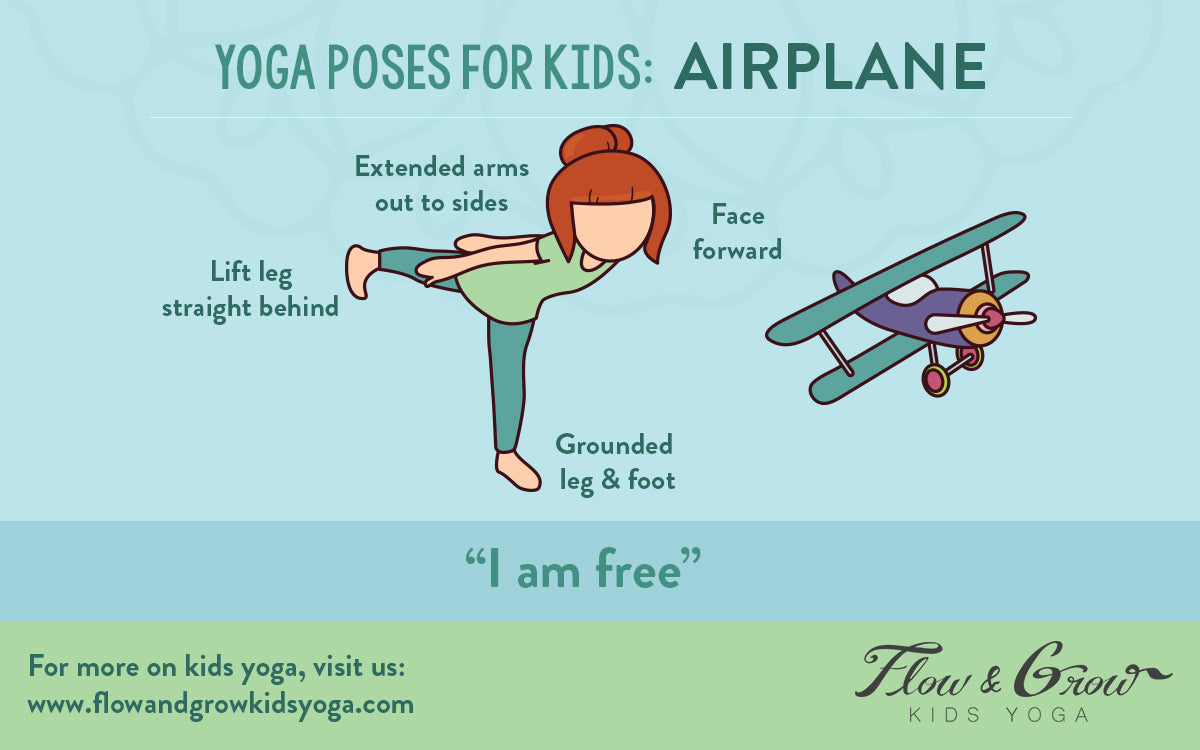 Yoga Poses for Kids: Airplane