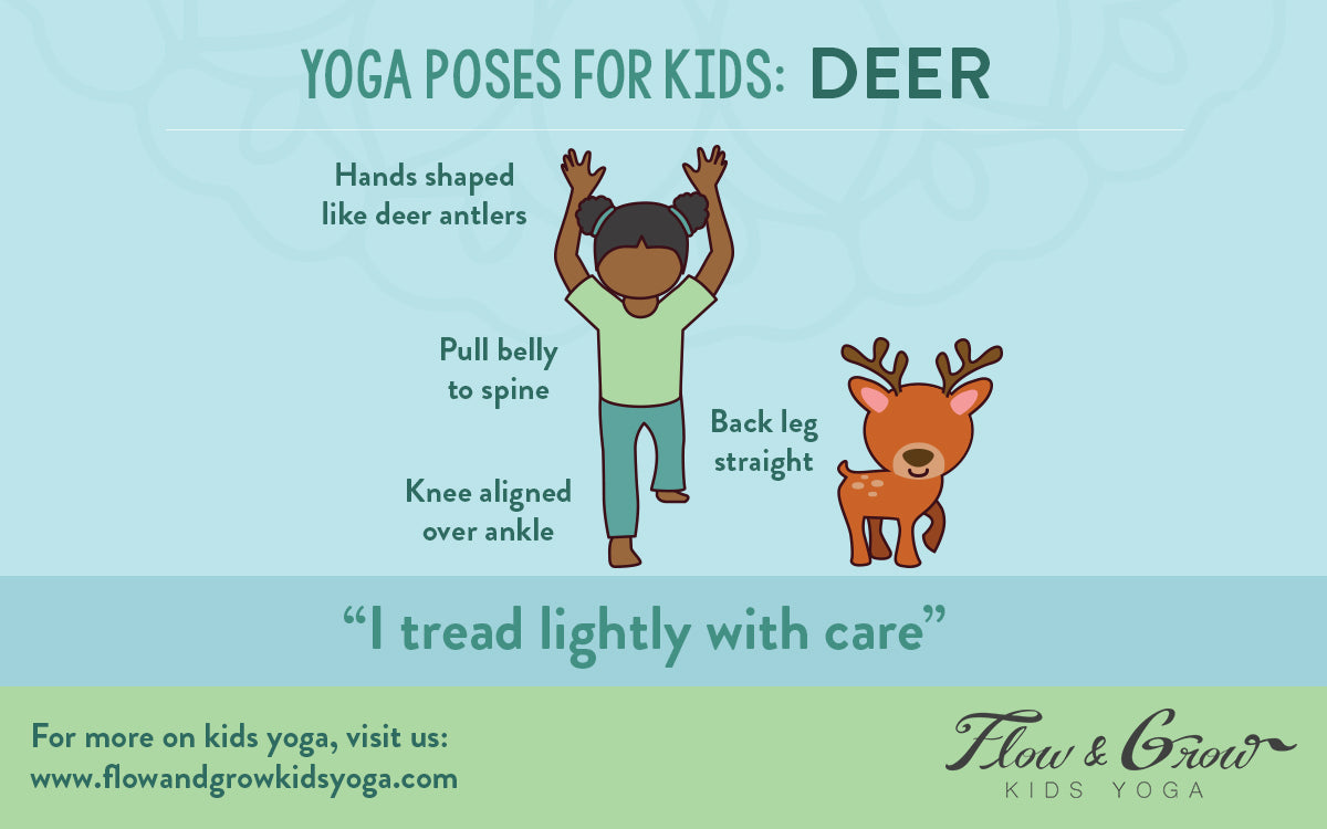 Learn how to do the Deer Pose, written for kids!