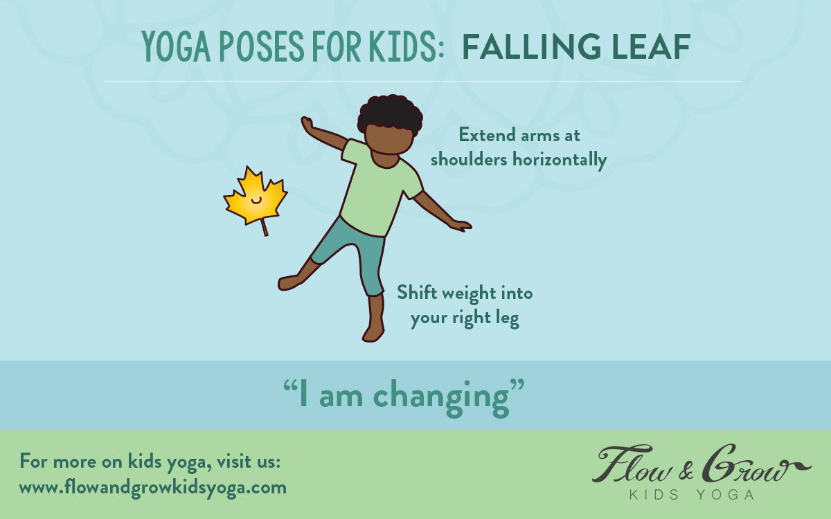 Yoga Poses for Kids: Falling Leaf