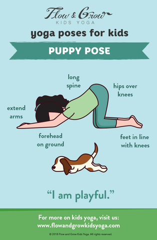 Yoga Poses for Kids: Puppy Pose