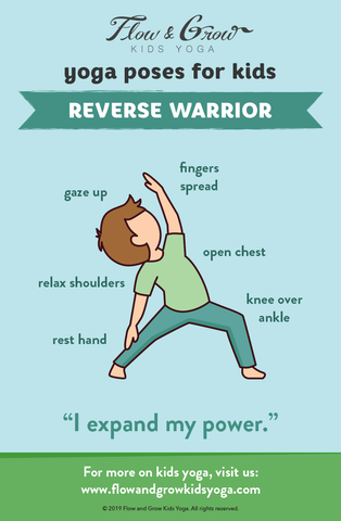 Yoga Poses for Kids: Reverse Warrior
