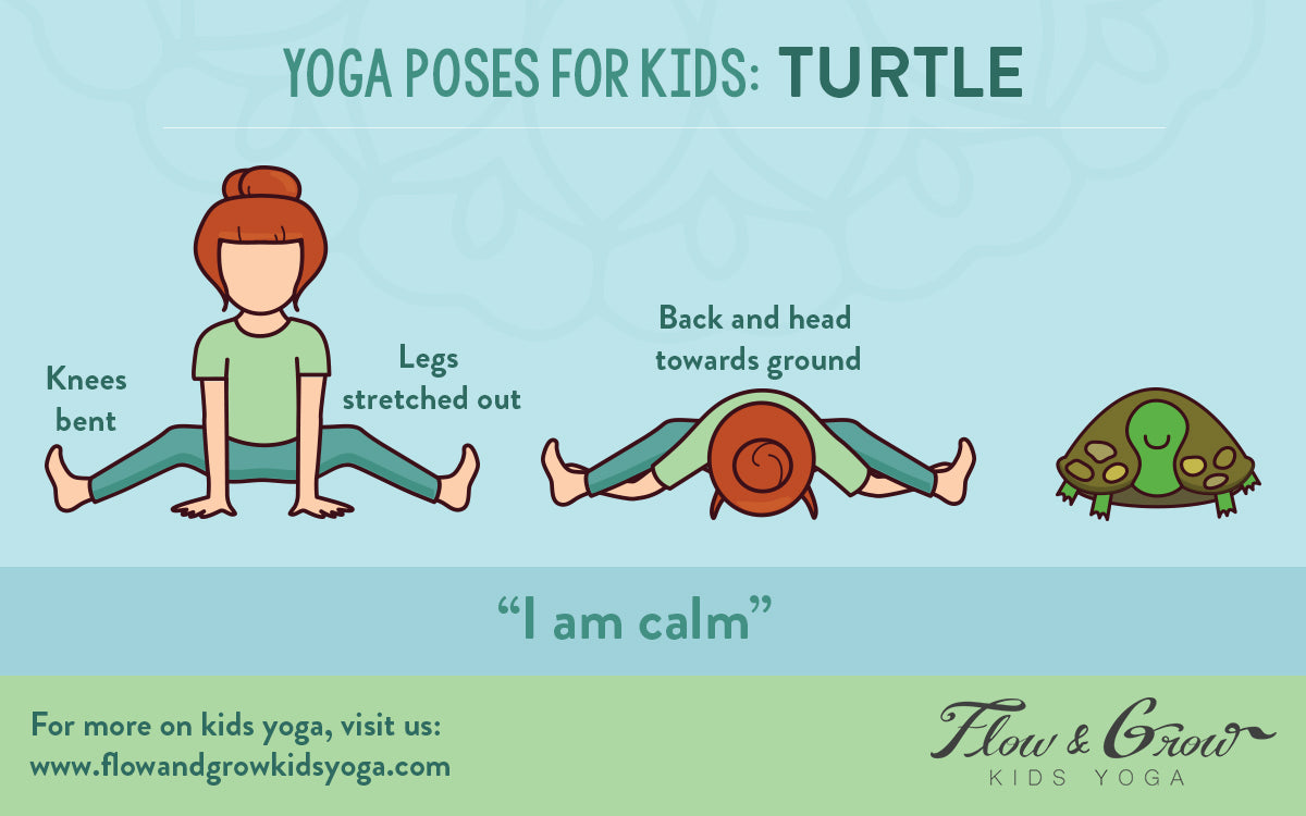 Yoga Poses for Kids: Turtle Pose