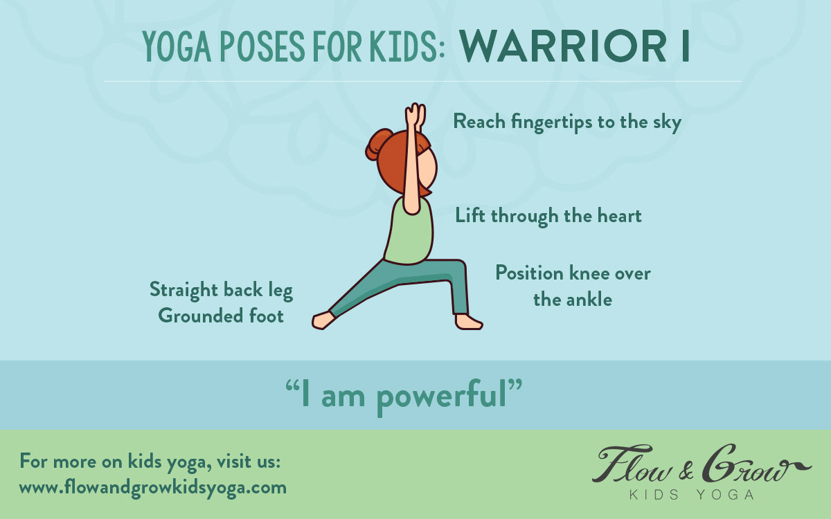 Kids Yoga Poses: Warrior I