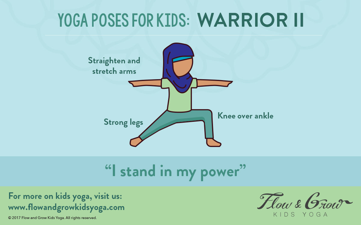 Warrior 2: Yoga Pose for Kids