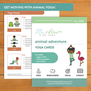 Animal Adventure Yoga Cards