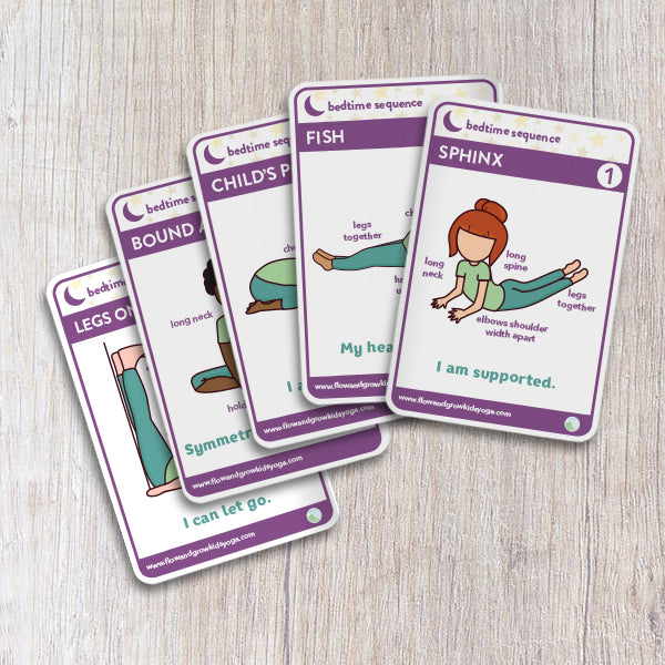Yoga Cards for Mindful Bedtime