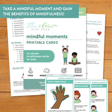 Load image into Gallery viewer, Mindful Moments Printable Cards