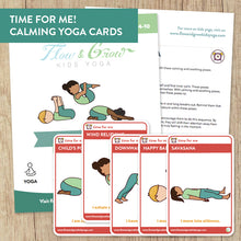 Load image into Gallery viewer, Time for Me Yoga Cards for Kids