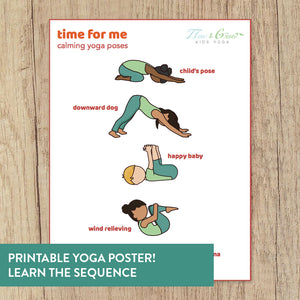 Time for Me Yoga Poster for Kids