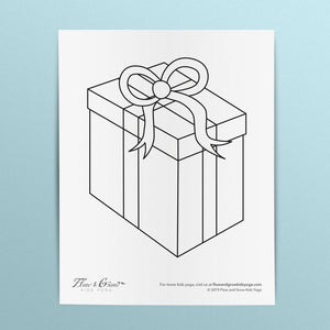 Gift Box Coloring Page