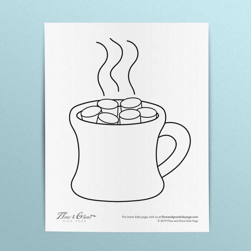 Hot Chocolate Mug Coloring Page