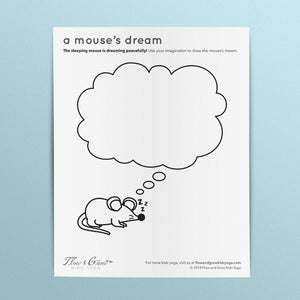 A Mouse's Dream Coloring Page