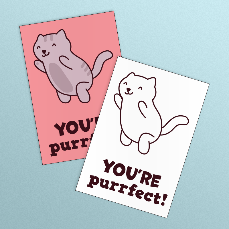 You're Purrfect Valentine's Day Card
