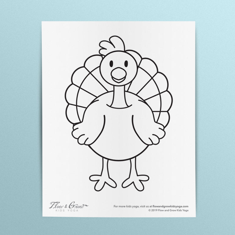 Turkey Thanksgiving Coloring Page