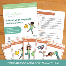 Load image into Gallery viewer, Autumn Sequence Yoga Cards