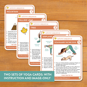 Autumn Sequence Yoga Cards and Lesson Plans