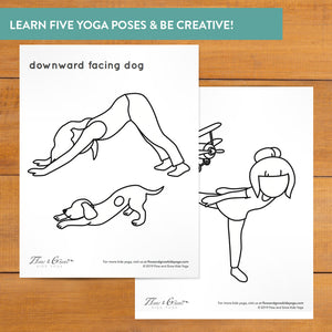 Autumn Yoga Coloring Pages