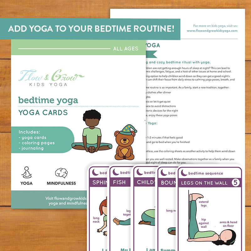 Bedtime Yoga Cards and Coloring Book