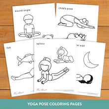 Load image into Gallery viewer, Bedtime Yoga Cards and Coloring Book