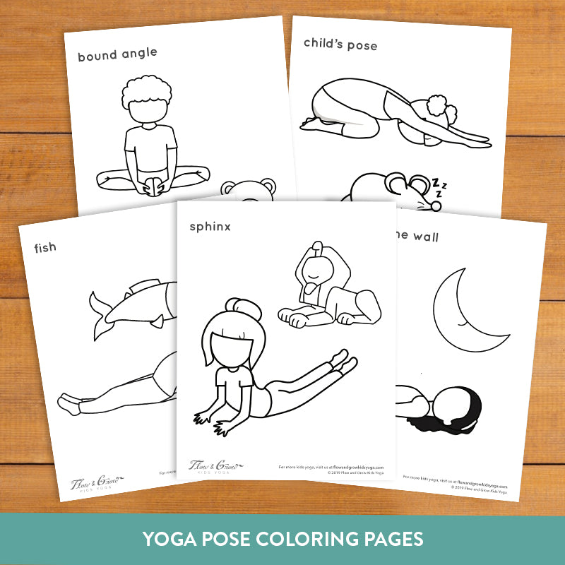 Bedtime Yoga Cards And Coloring Book For Kids Flow And Grow Kids Yoga