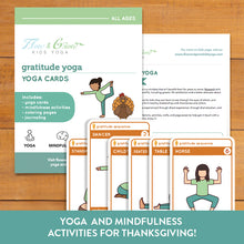 Load image into Gallery viewer, Gratitude Yoga Cards for Thanksgiving