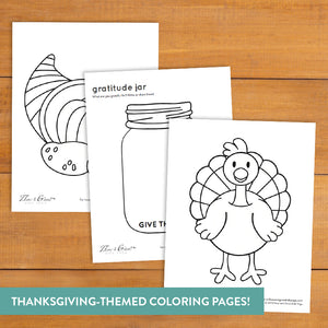 Gratitude Yoga Cards for Thanksgiving
