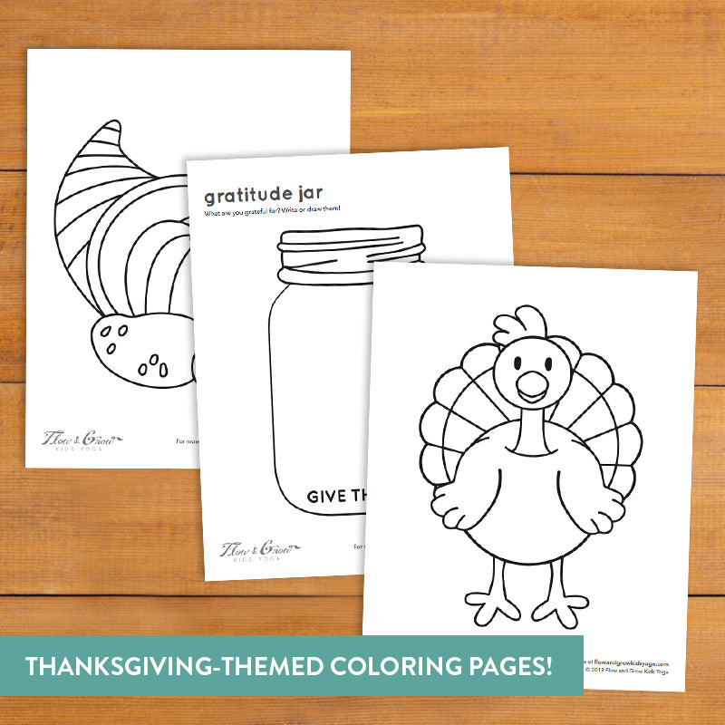Gratitude Yoga Coloring Pages