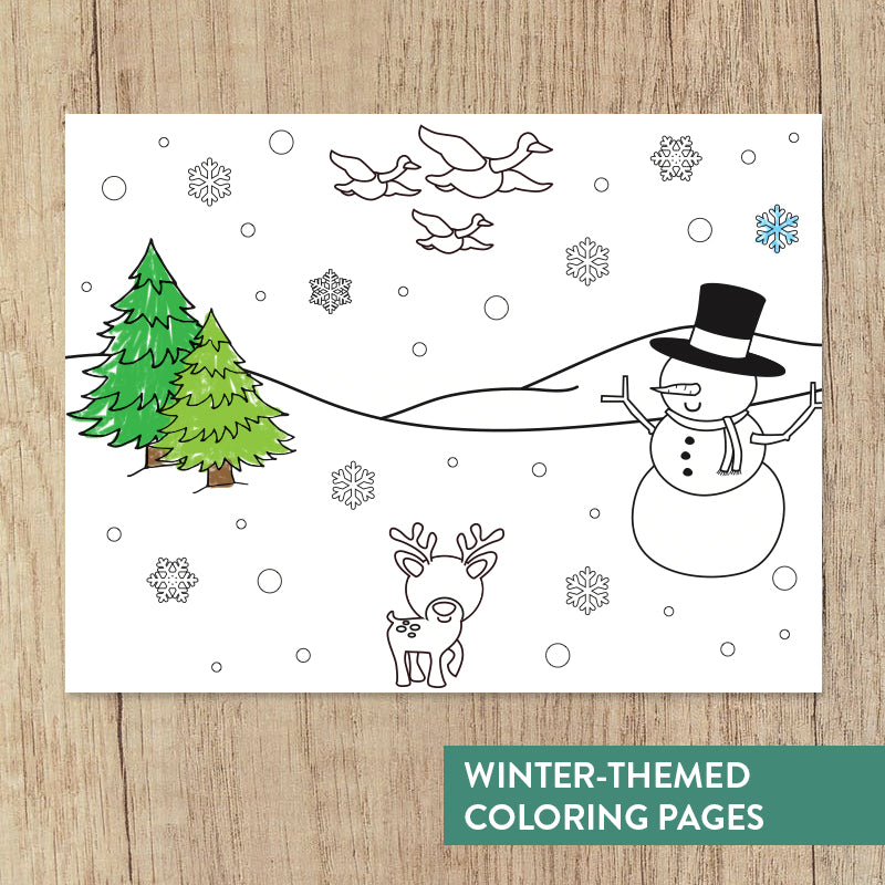 Winter Yoga Coloring Book