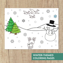 Load image into Gallery viewer, Winter Yoga Coloring Book