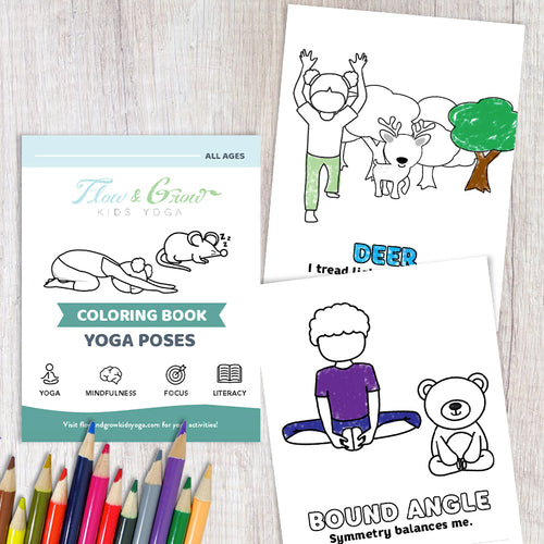 Yoga Coloring Printable Book