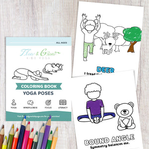 picture about Yoga Printable known as Yoga Coloring Printable E-book
