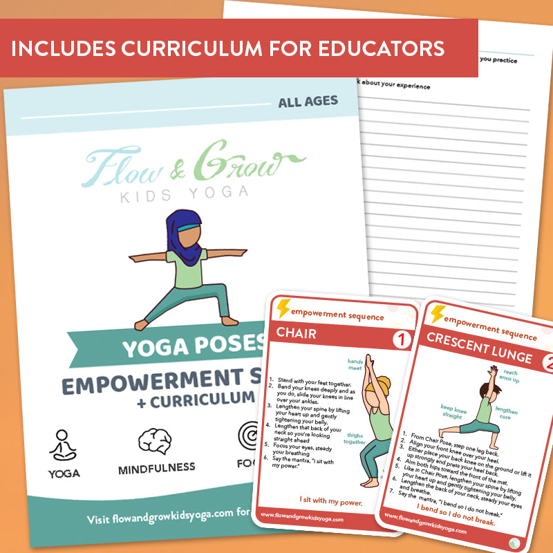 Empowerment Sequence Yoga Cards and Lesson Plans