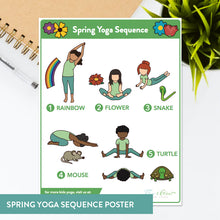 Load image into Gallery viewer, Spring Sequence Yoga Cards and Lesson Plans